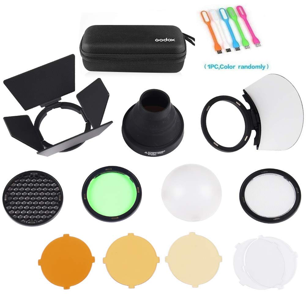 Godox AK-R1 Flash Light Accessories Kit for Godox V1-S,V1-C,V1-N,V1-O,V1-F,Godox H200R Ring Flash Head AD200 AD200Pro Accessories by Godox