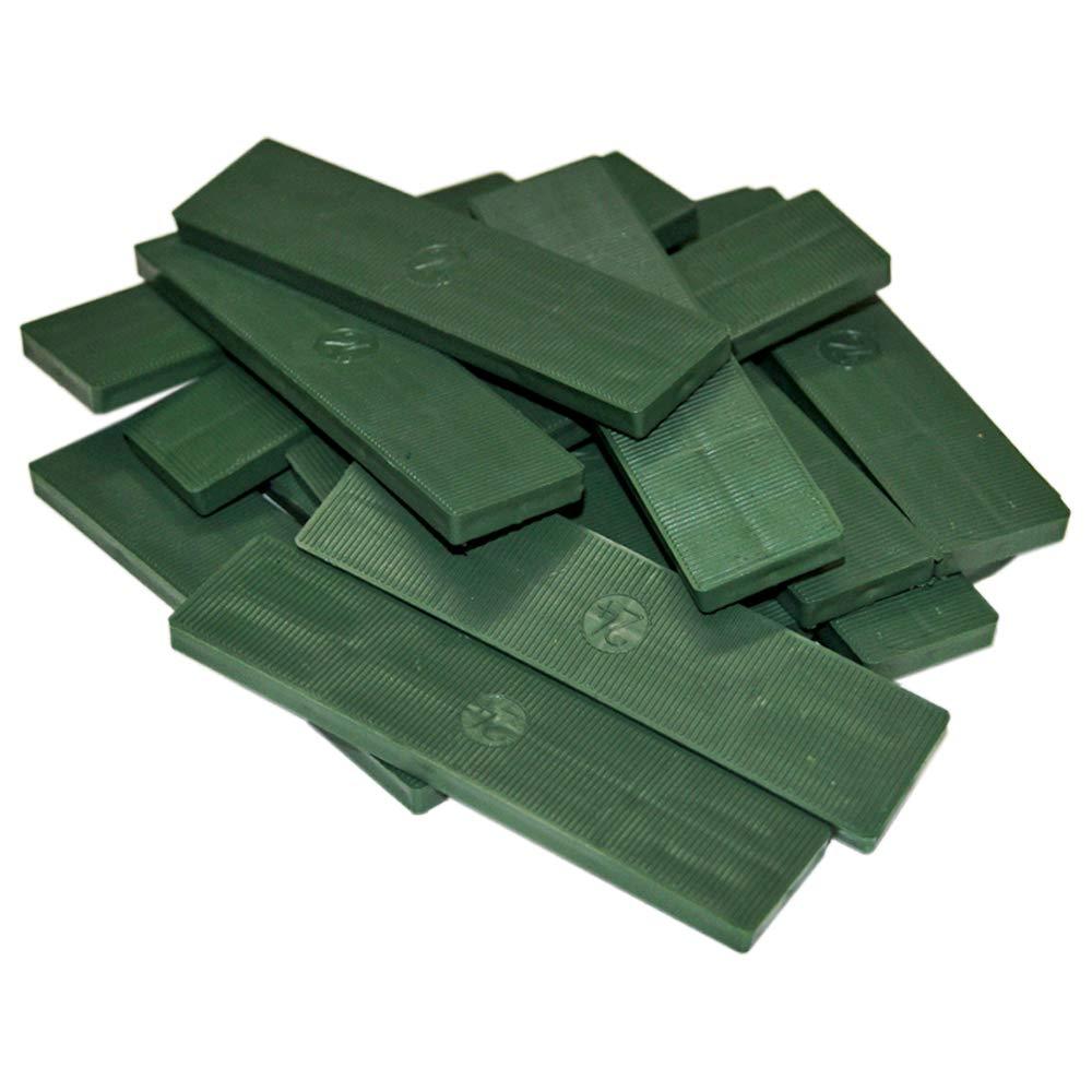 150 x Inovatec Kunststoff Verglasungskl/ötze Glaskl/ötze 100 x 24 x 1-6 mm Tragekl/ötze