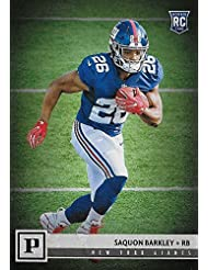 Saquon Barkley 2018 Panini Short Printed Mint Rookie Card  313 Picturing  this  2 NFL e4f83383e