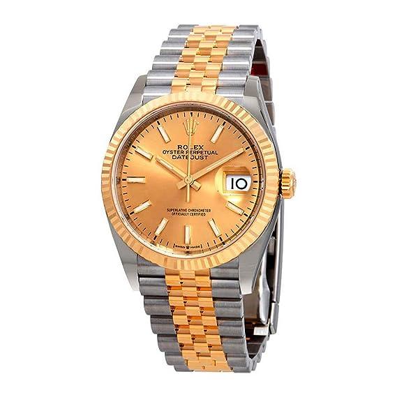 Rolex Datejust 36 - Reloj de Pulsera automático para Hombre, Acero y Oro Amarillo de 18 Quilates: Amazon.es: Relojes