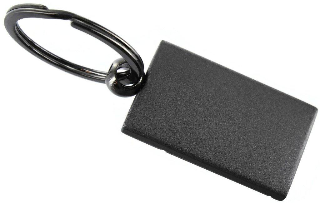 Au-Tomotive Gold INC Lincoln Navigator Two Tone Gun-Metal Rectangular Key Chain Key Fob