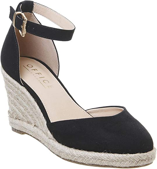 office black wedge shoes