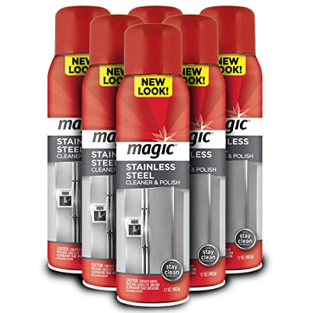 Magic aerosol limpiador de acero inoxidable - 17 onzas [6 paquetes ...
