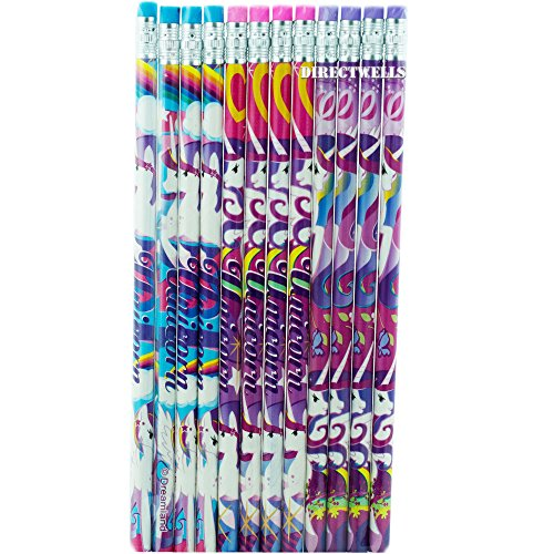 - Unicorn 12 Pencils Pack for Party Favors