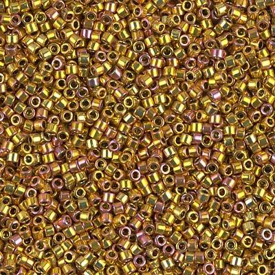 Miyuki Delica 11/0 Cylinder Seed Beads - 24kt Gold Iris - DB0501 5 grams