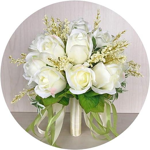 Amazon Com Sevem D Nice Bridal Bouquets Silk Roses Wedding