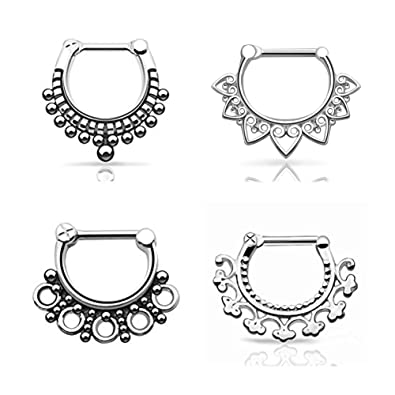 Amazon.com: D&M Jewelry aro para piercing de nariz de ...