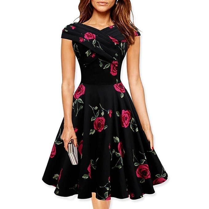 Vestidos vintage de flores