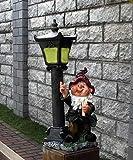 Wonderland Gnome / dwarf Solar Lamp Post , solar light for balcony or garden, home decor, garden decoration, solar lights, gift