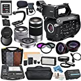 Sony PXW-FS7 4K XDCAM Camcorder with Movie Makers Package: Includes Sony 18-55mm, Sony 55-210mm & Sony SEL16F28 16mm Lenses, Professional 162 LED Light Kit, Sony 64GB XQD Format Memory Card and more