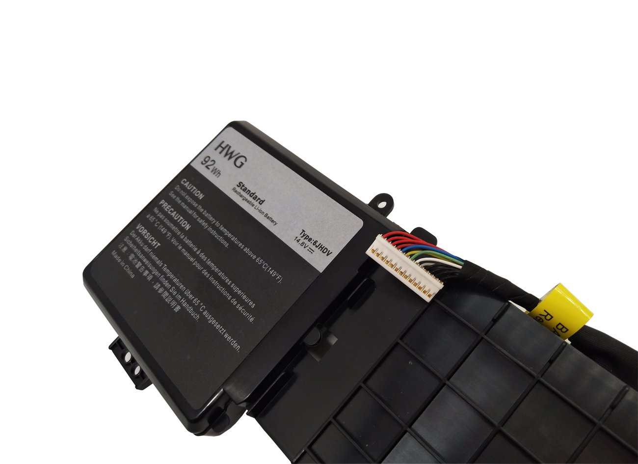 HWG 6JHDV Battery Compatible Dell Alienware 17 R2 5046J P43F Series, Fits P/N 6JHDV (14.8V 92WH) by HWG (Image #3)