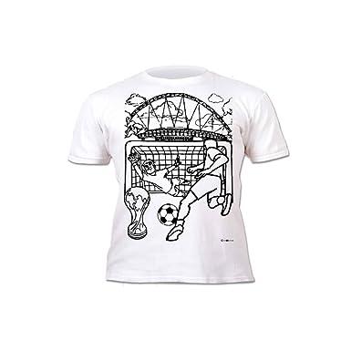 Splat Planet Camiseta FÚTBOL para niños. con impresión para Pintar y Colorear. Incluye 6 Colores mágicos Lavables. Cumpleaños Infantil: Amazon.es: Ropa y ...