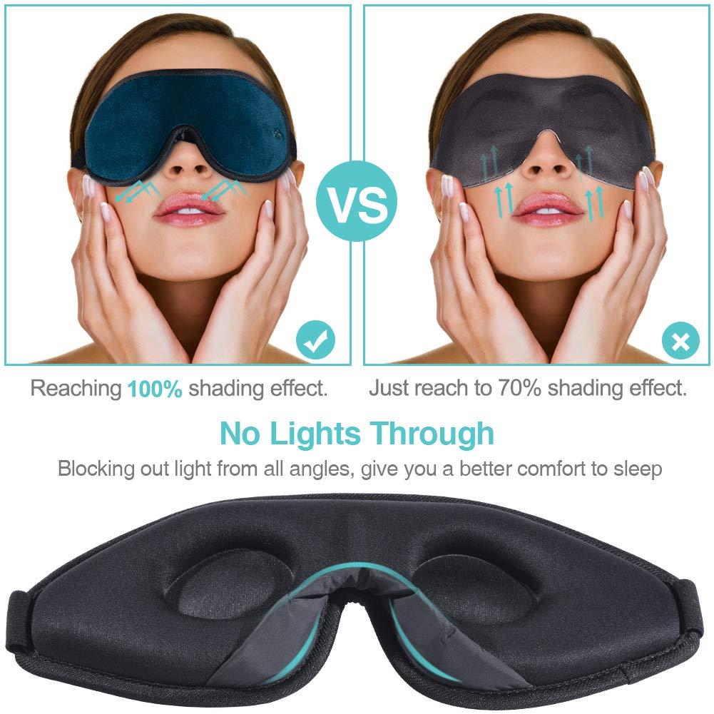 Super Soft and Comfortable,100/% Blockout Light 3D Eye Cover for Travel Shift Work Naps-Navy Unimi 3D Contoured Sleep Mask /& Blindfold for Women /& Men Eye Mask for Sleeping
