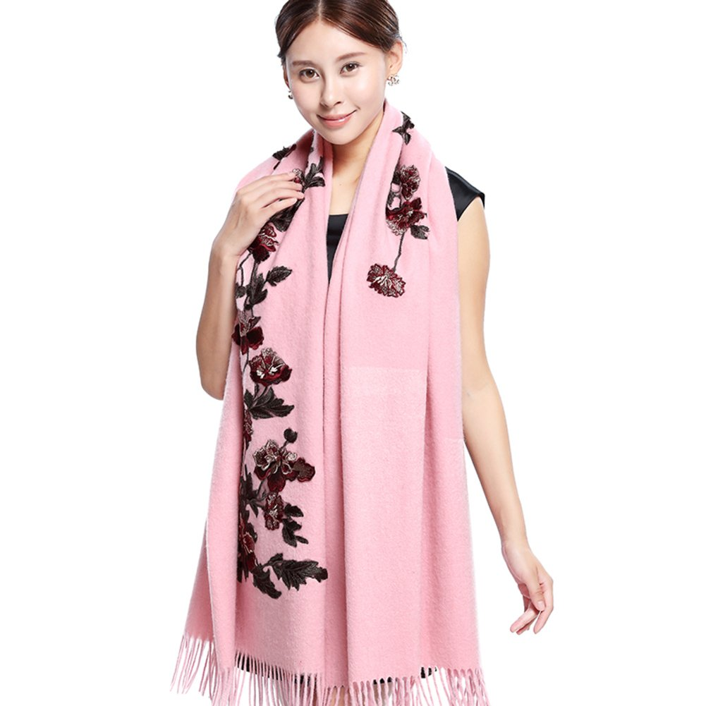 Autumn and winter scarves wedding shawls Dual coat super long thick scarf-B One Size