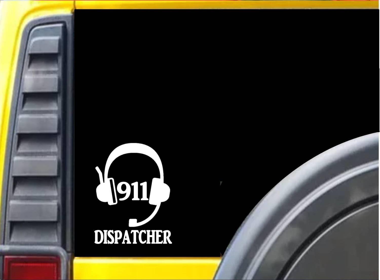 EZ-STIK 911 Dispatcher Headset K488 6 inch Sticker Dispatch Decal