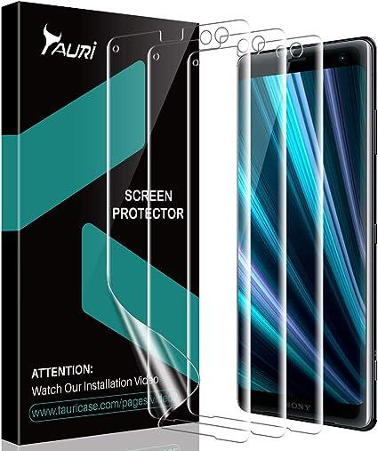 TAURI [3 Piezas Protector de Pantalla para Sony Xperia XZ3 ...