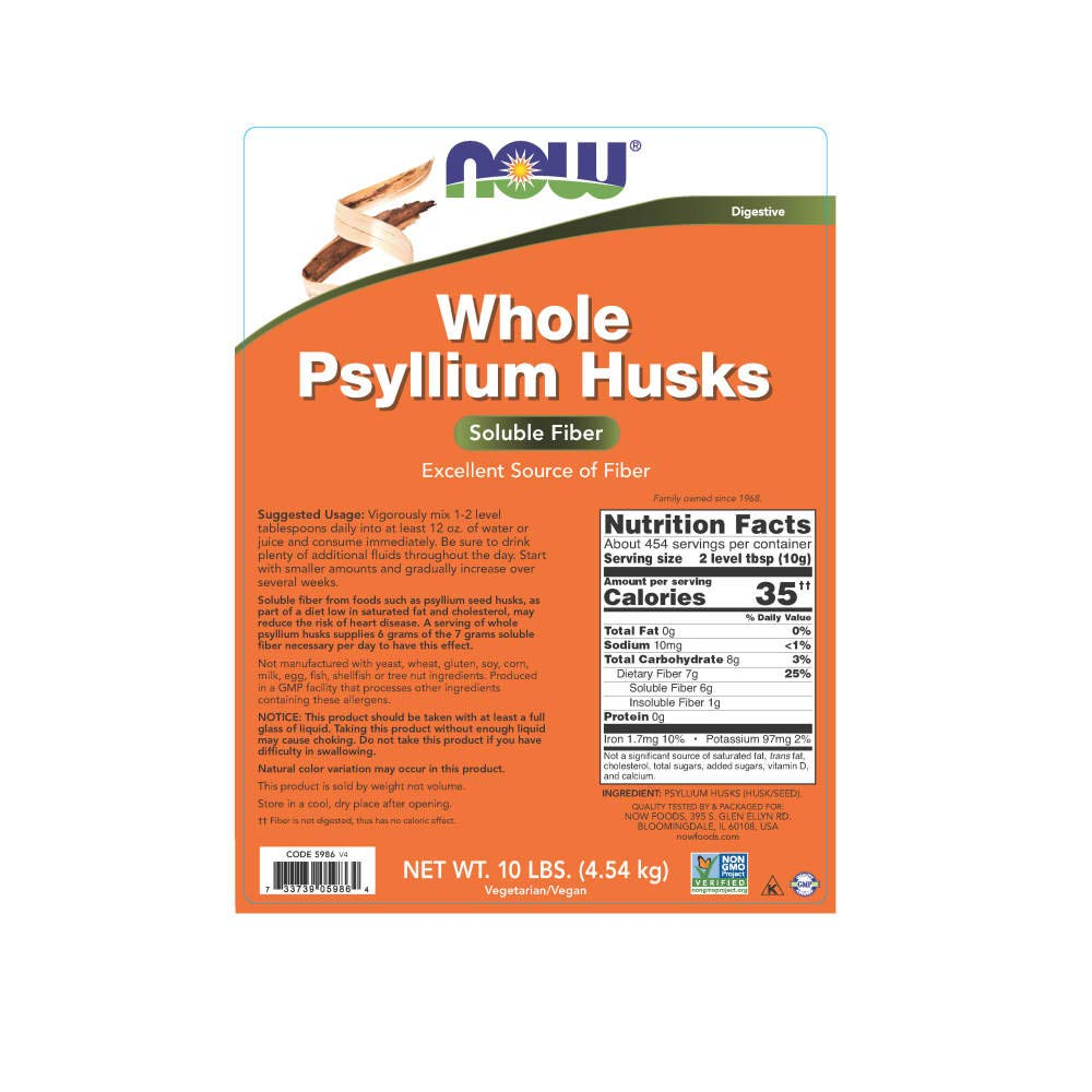 NOW Supplements, Whole Psyllium Husks, 10-Pound by NOW Foods (Image #2)