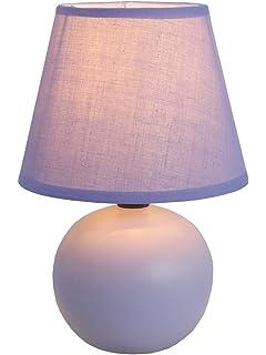 Superior Simple Designs LT2008 PRP Mini Ceramic Globe Table Lamp, Purple