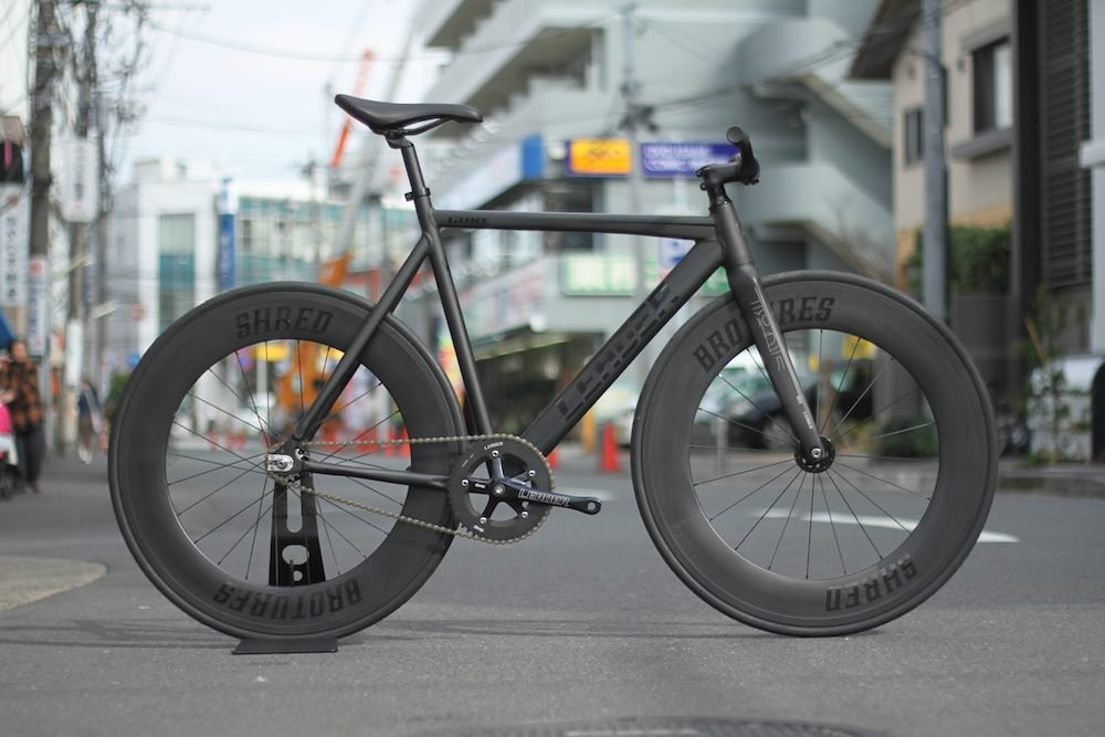 LEADER BIKES リーダーバイク CURE SHRED FRONT&REAR CUSTOM BIKE キュア シュレッド フロント&リア カスタムバイク B01D1H2X12 Small|BLACK BLACK Small