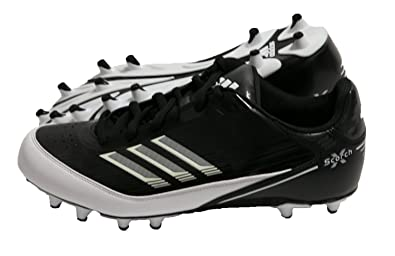 cd0a11abb5bc Image Unavailable. Image not available for. Color  adidas AS SMU Scorch X  Fly Low NC Mens Football Cleats Black White ...