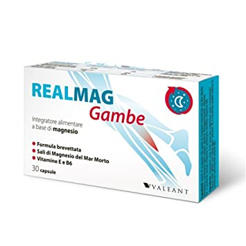 Valeant Realmag Legs Dietary Supplement 30 Capsules