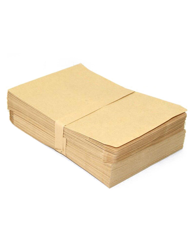 PRALB 300PCS Brown Kraft Paper Bags Flat Merchandise Bags Gift Bags, 17.6 X 12.5CM. (6.9 in X 4.9 in)