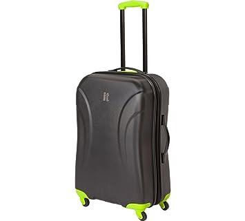 b3d97f55759d IT Luggage Medium Expandable 4 Wheel Hard Suitcase - Black.: Amazon ...