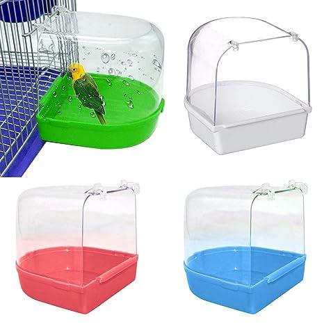 LPxdywlk Pet Bird Parrots Bañeras Transparentes Bañera Caja De ...