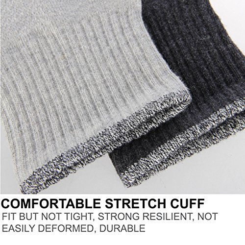 Zisuper Men's 6 Pack Athletic Crew Socks Breathable Performance Cushion Sports Running High Ankle Workout Socks for Men by Zisuper (Image #3)