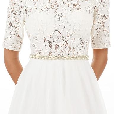 Organza Sashes Wedding Dress
