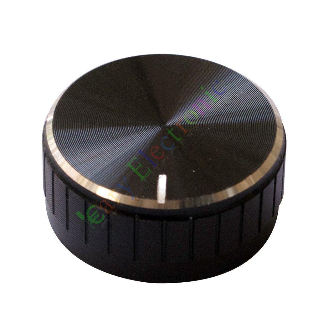 Cayyi 10pc 40mm Pedal Top skirted Black knob Guitar tube Amp JAZZ BASS audio DIY parts