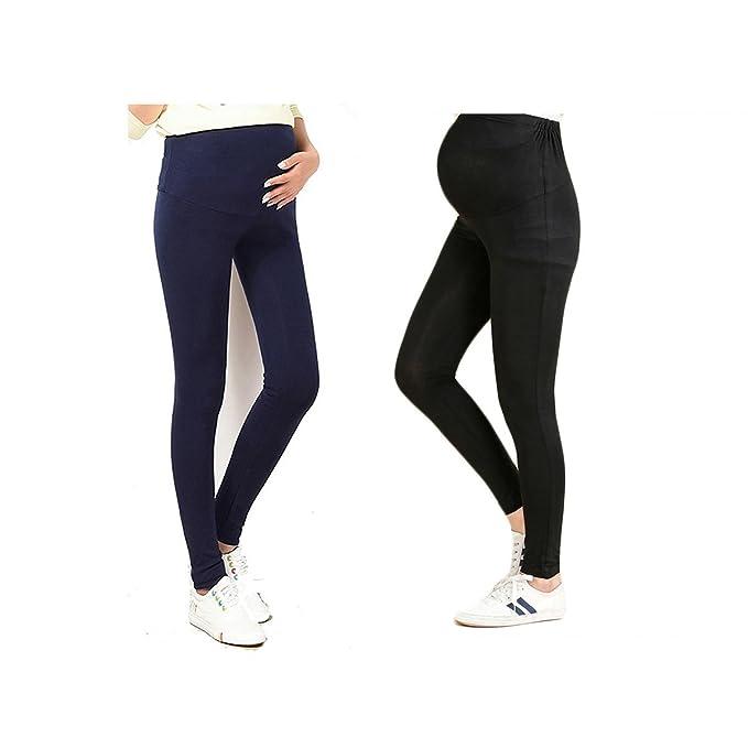 69c285be059 Bold N Elegant Black   Navy Blue Comfortable Maternity wear Thin Summer Pregnancy  Leggings Combo of