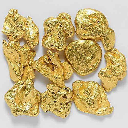 10 Pieces Alaska Natural Gold Nuggets Or Flake Specimen (Natural Gold Nugget)