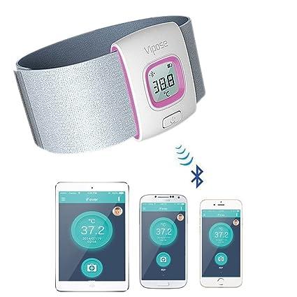Raza ifever vipose novedad Wearable Bluetooth Smart Termómetro inalámbrico gratis App Intelligent Monitor de medición de