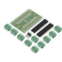 Kits de adaptador de terminal de placa de expansión azul HuldaqueenMX kits de bricolaje para Arduino Nano Io Shield V1.0 Aplicación en calculadora Kits de adaptador de terminal de placa de expansión Pansion para Arduino Nano Io Shie