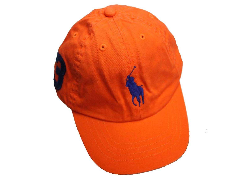10ec4c6e Amazon.com: RALPH LAUREN Polo Boys' Big Pony Chino Sports Cap (Toddler  Little Boys) (2T-4T, Westport Orange): Clothing