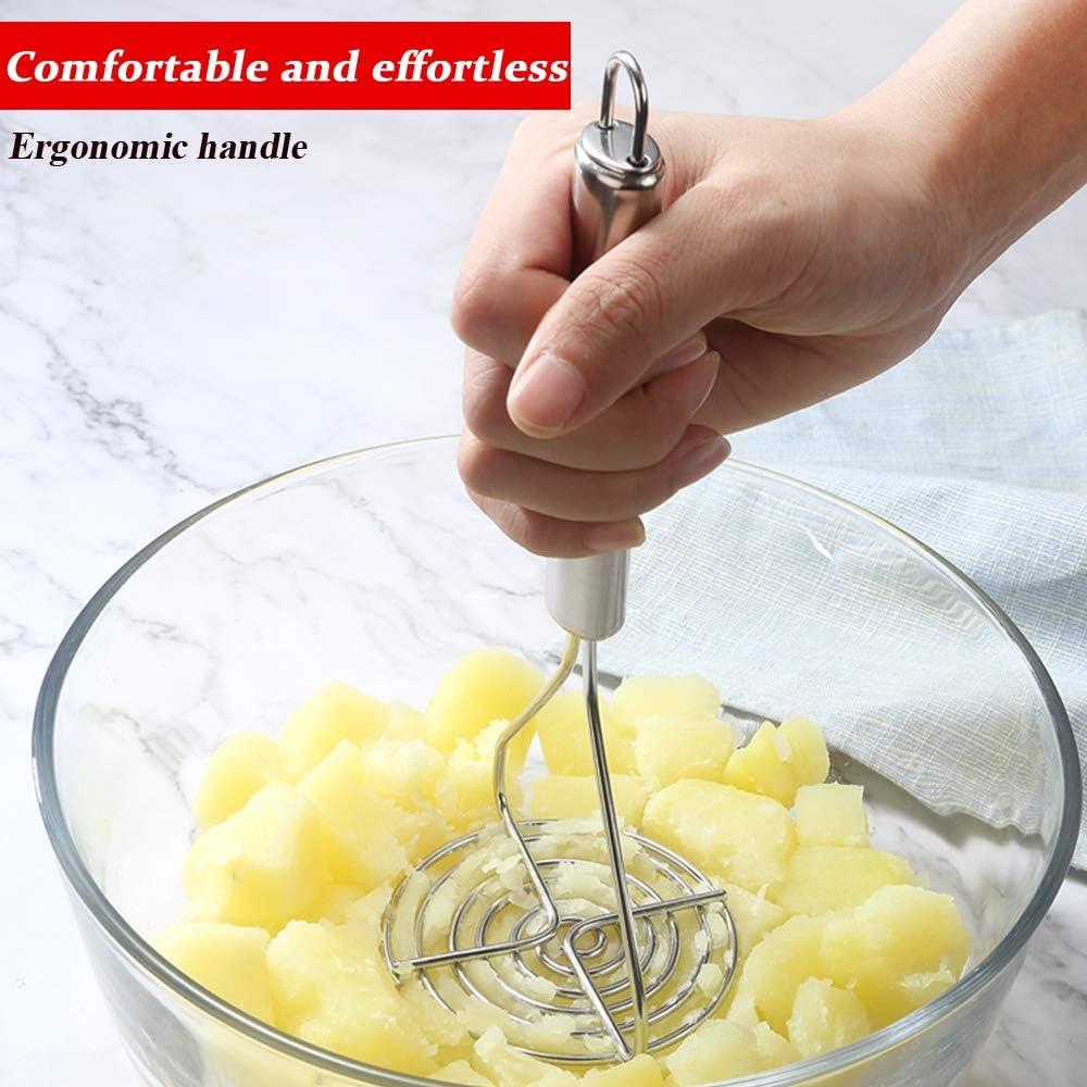Potato Masher Hand for Making Mashed Potatoes Potato Masher Vegetables and Fruits Professional Potato Masher Stainless Steel Masher Kitchen Tool
