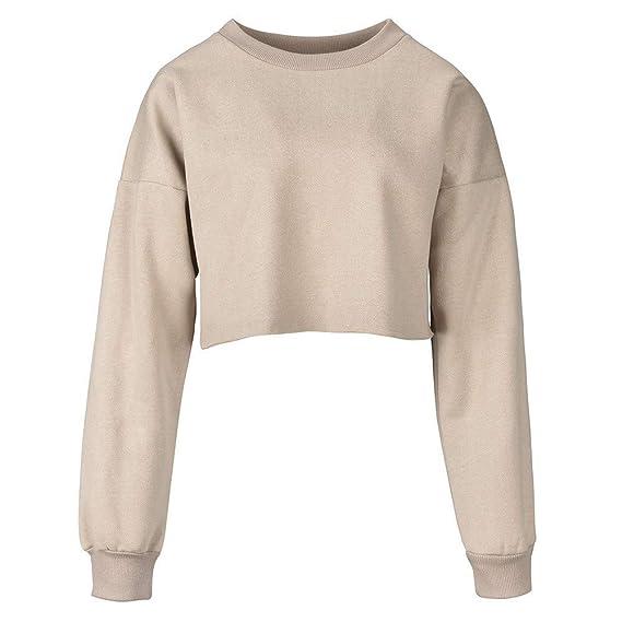 Sudaderas para Mujer,RETUROM 2018 Moda Mujeres Casual Color Block Sweatshirt Jumper Pullover Blusa (