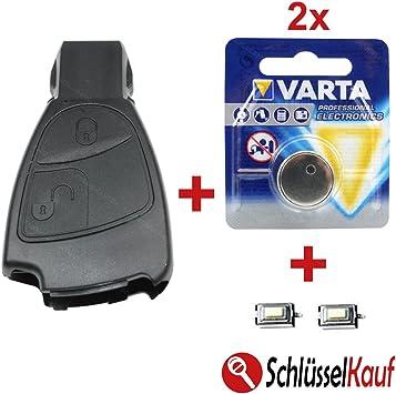 Konikon Autoschlüsselgehäuse 2 Tasten Autoschlüssel Reparatur Set Gehäuse 2x Batterie 2x Mikrotaster Neu Auto
