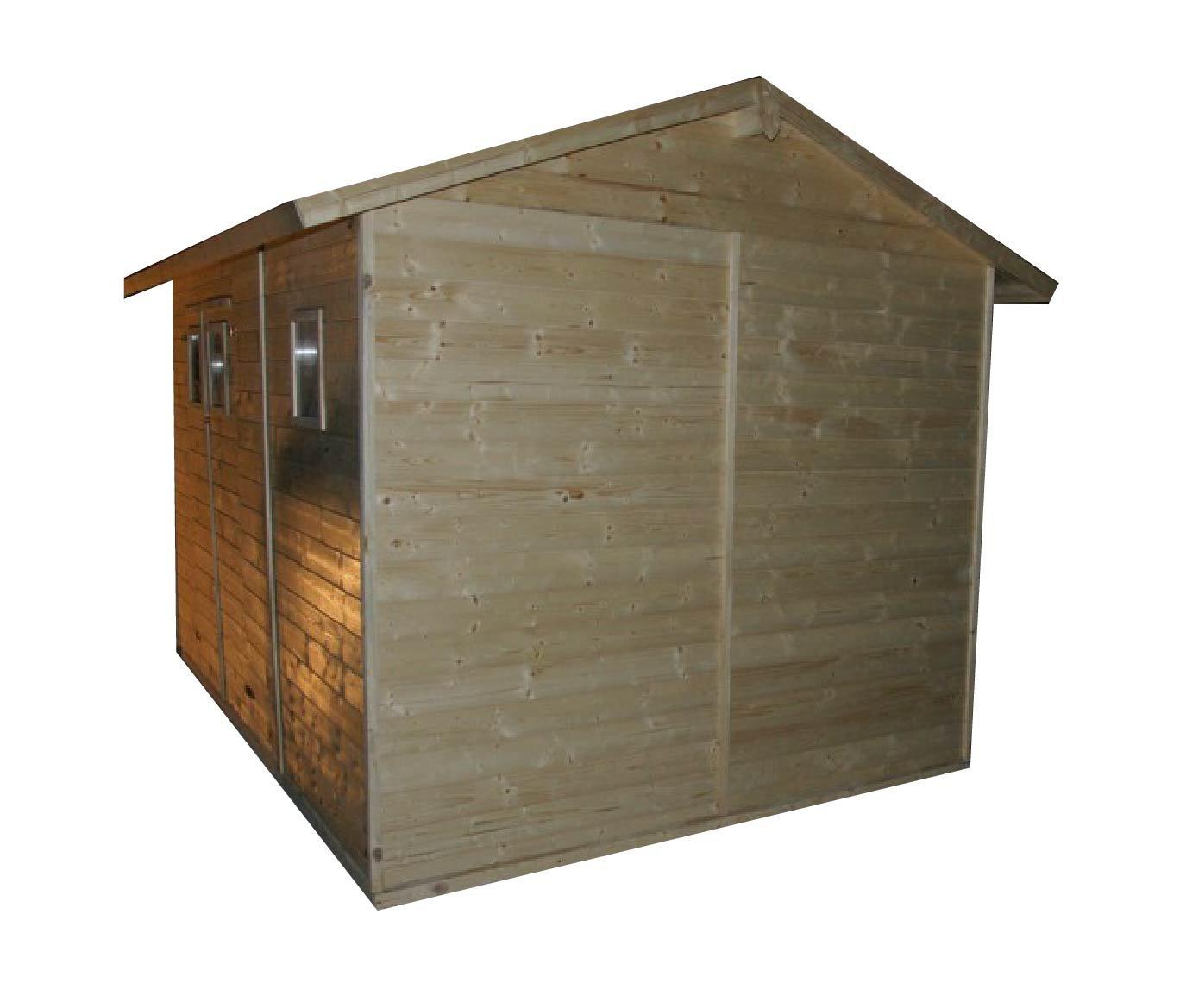 cadema Jardín Casa de madera 3, 3 m x 3, 9 m, (16 mm) con ventanas, incluye dispositivo de suelo Denia, Hogar: Amazon.es: Jardín