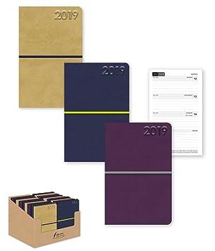 2019 - Agenda de bolsillo (tamaño semanal), color morado ...