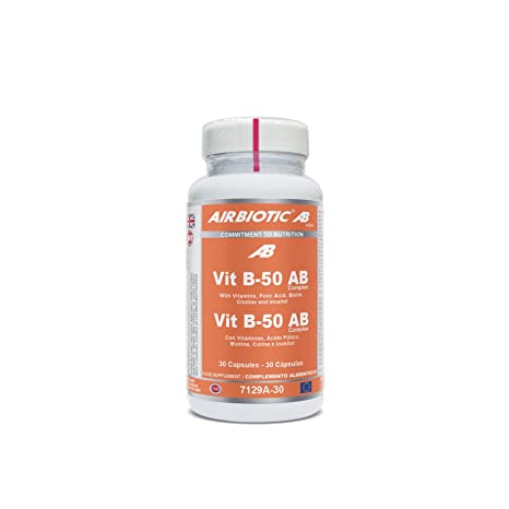 Airbiotic AB - Vit B-50 AB Complex. Vitaminas para la Salud y contra