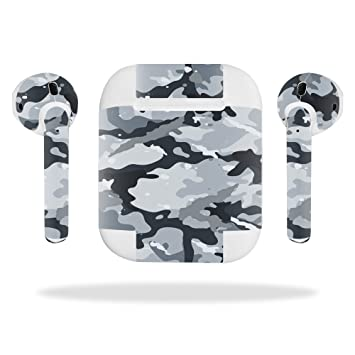 best service 9463c 5239a MightySkins Skin for Apple AirPods - Gray Camouflage | Protective, Durable,  and Unique Vinyl Decal...