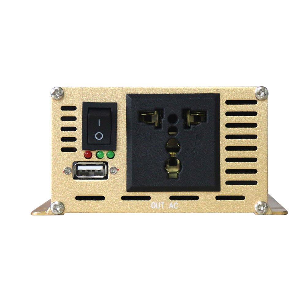 Leaftree Adaptateur de convertisseur de 12V /à 220V avec Affichage pour t/él/éphone Portable et appareils m/énagers Convertisseur dalimentation de Voiture 5000W