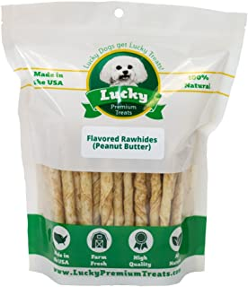 product image for Rawhide Dog Treats for Small Dogs Made in The USA Only by Lucky Premium Treats
