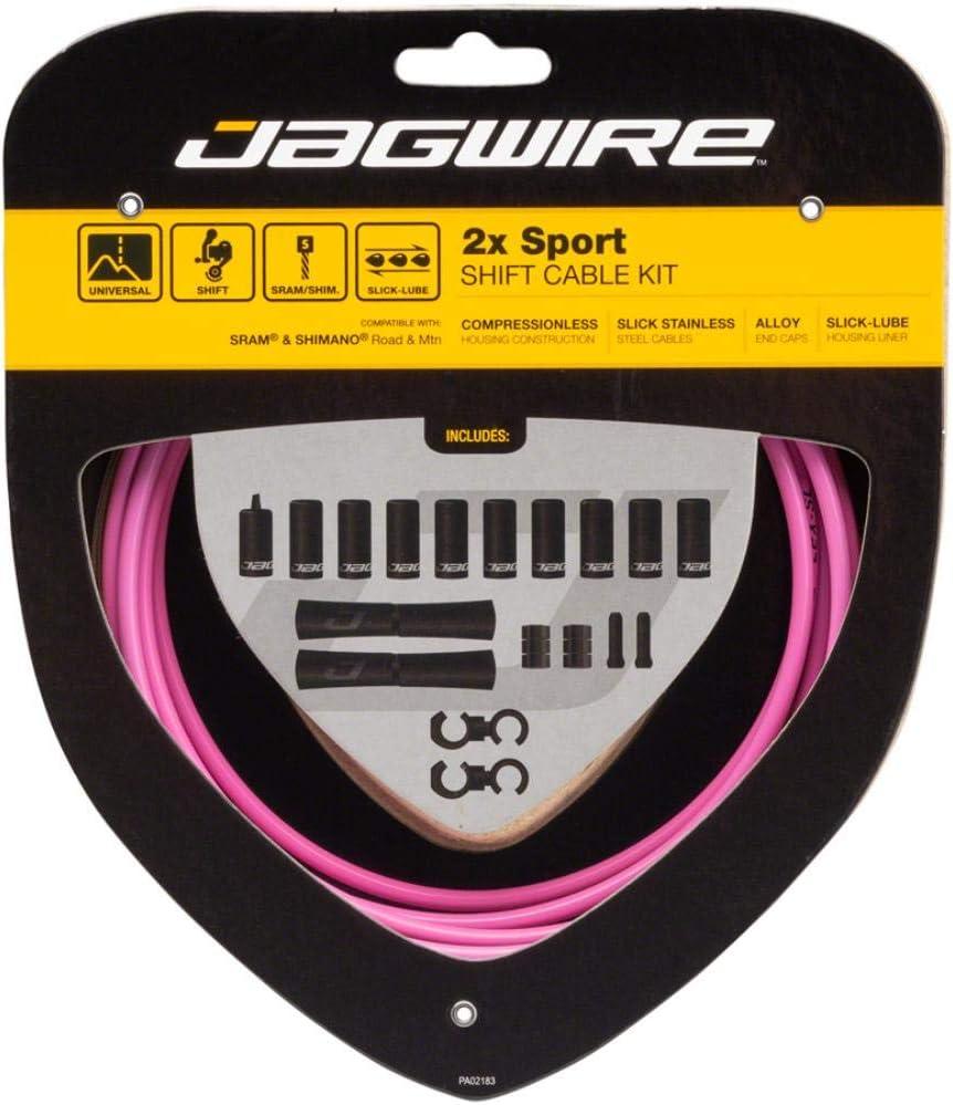 Jagwire 2X Sport Shift Cable Kit SRAM//Shimano Pink