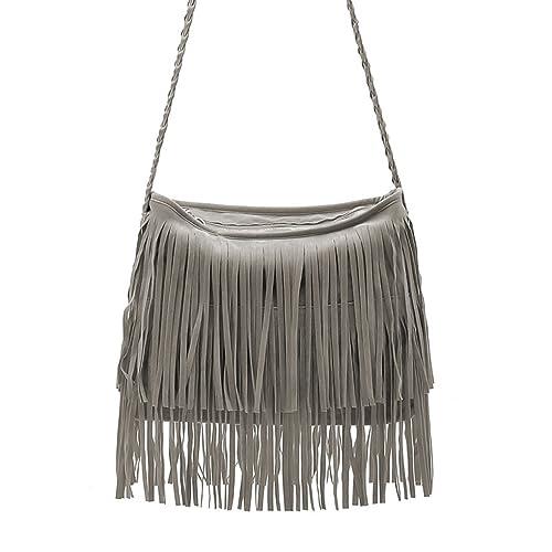 a35b123de8 HOT Celebrity Womens Tassel Fringe Crossbody Shoulder Handbag Messenger Tote  Bag  Handbags  Amazon.com