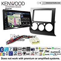 Volunteer Audio Kenwood DNX574S Double Din Radio Install Kit with GPS Navigation Apple CarPlay Android Auto Fits 2004-2012 Mitsubishi Galant