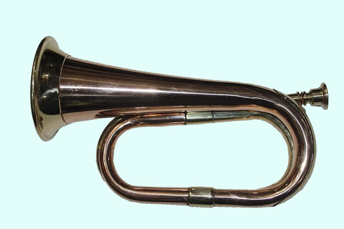 Global Art World Stylish And Stunning With Beautifully Crafting Bugle Made Of Brass With Bugle Instrument w Case MI 024