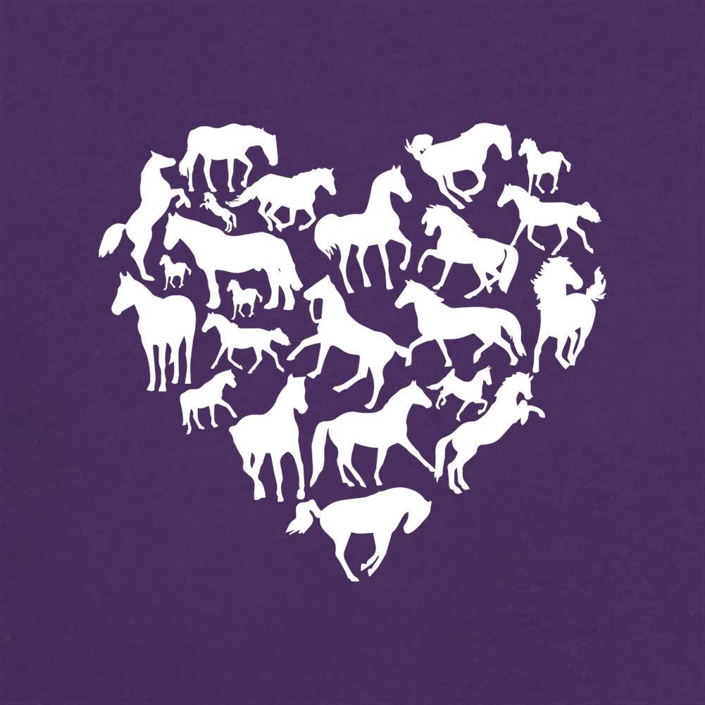 Unisex Sweat//Pull Dressdown Love Heart Horse 8 Couleurs